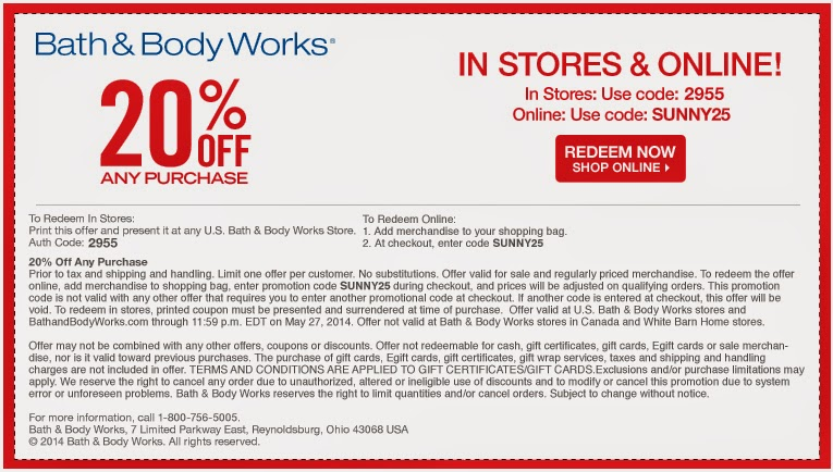 Shop Bath & Body Works for top offers, coupons & promo codes on all your favorite scents. Discover NEW candle sales, fragrance discounts & more now! 20% Off Your Entire Purchase Code: STAYTOASTY details. Wexler Buy 1, Get 1 50% Off Lowest priced item is discounted Shop.